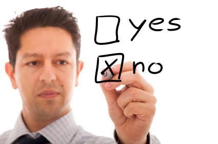 Negative decision